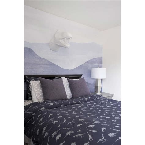 removable wallpaper navy blue anewall mountain modern classic navy blue removable wallpaper