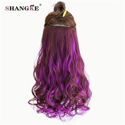 gfabke hair pieces in bsrrel curl shangke 24 long colored curly hair extensions 5 clip in