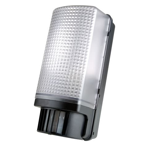 Pir Lights by Timeguard Slb88 60w Pir Bulkhead Light In Black Ebay