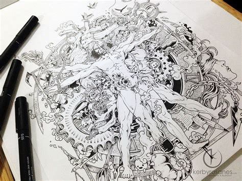 doodle pen name beautifully detailed pen doodles by artist kerby rosanes