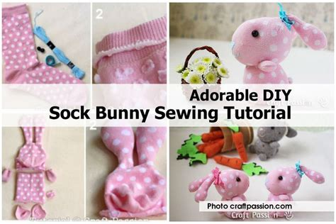 sock bunny sewing tutorial adorable diy sock bunny sewing tutorial