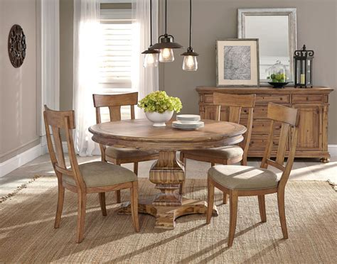 Round Formal Dining Room Table by Von Furniture Wellington Hall Formal Dining Room Set
