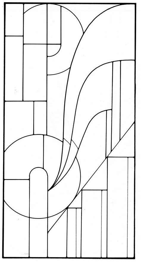 Art Deco Stained Glass Pattern Glass Mosaic Quilt Inspirations Pinterest Glasses Template Design Pattern