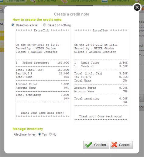 Credit Note Format Ca Club Credit Notes And Refunds The Extraclub Manuals Logiciel De Gestion Club De Sport