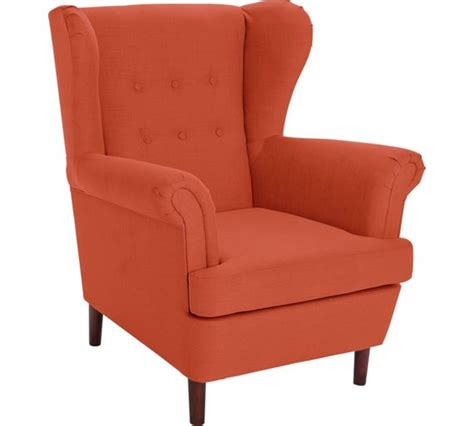 armchairs at argos buy collection martha fabric wingback chair burnt orange