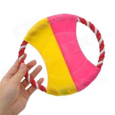 Rope Toys Circle pet frisbee disc teeth cleaning cotton rope circle tug