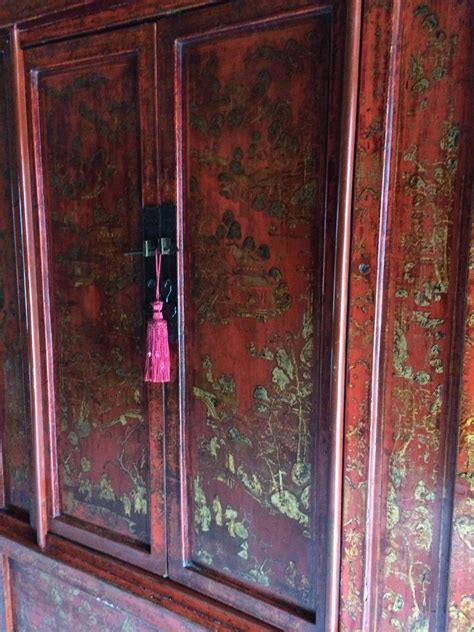 oriental armoire antique chinoiserie wardrobe armoire lacquered oriental chinese shanxi at 1stdibs