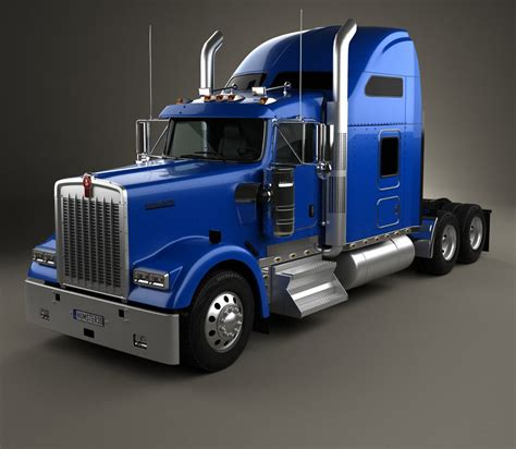 kenworth models kenworth w900l tractor truck 2005 3d model hum3d