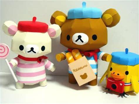 Rilakkuma Origami - rilakkuma papercraft recortables toys so