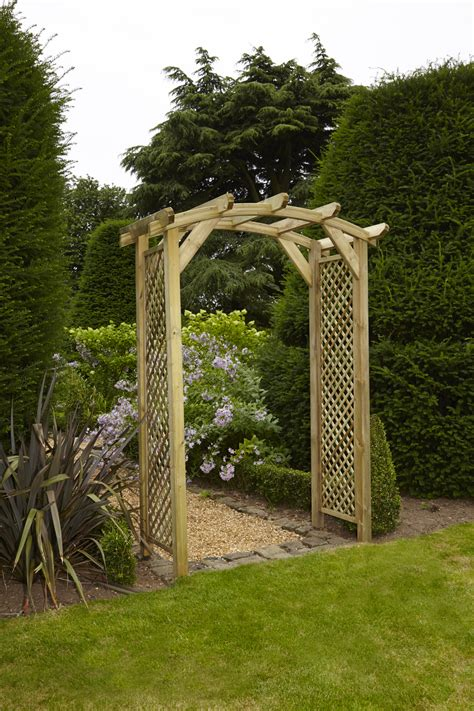 Curved Trellis Arch Anchor Fast Curved Lattice Arch Simply Wood
