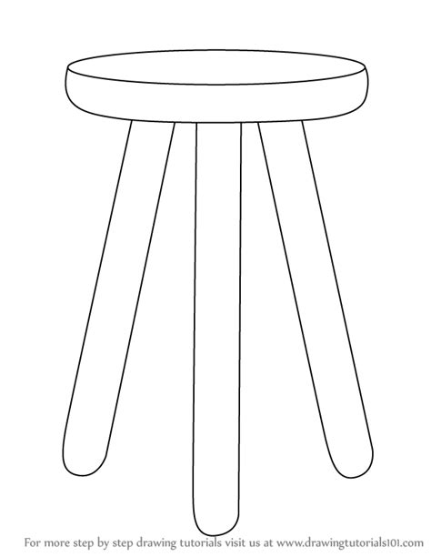 Kitchen Cabinets With Legs by Learn How To Draw 3 Legged Stool Furniture Step By Step