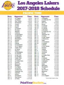 lakers home schedule los angeles lakers pacific time schedule 2017 18 printable