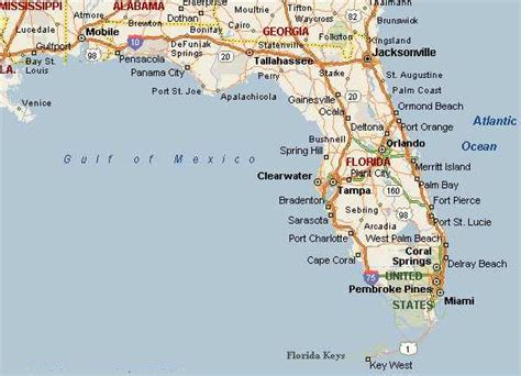 map of the panhandle of florida map of panhandle and west map of florida panhandle