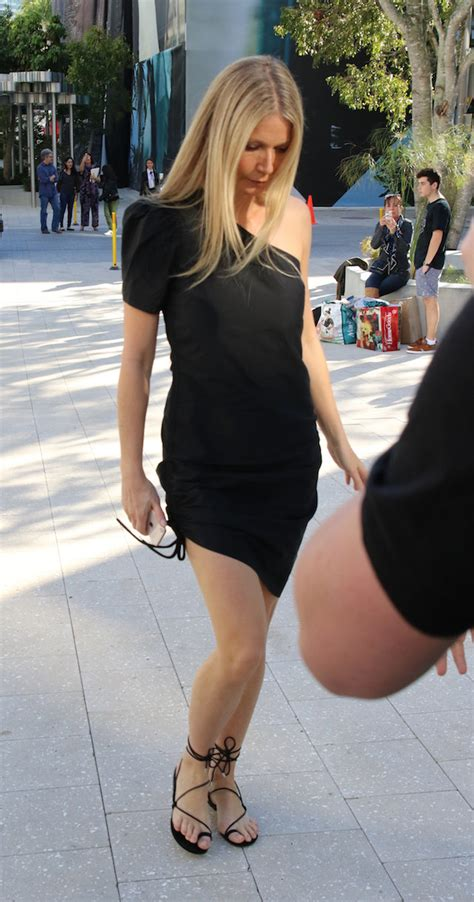 Sharrats Dressed Up Book Tour by Gwyneth Paltrow In Miami In Black Dress The Daily Caller