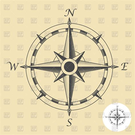 vintage compass rose tattoo antique compass drawing at getdrawings free for