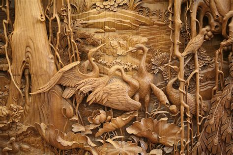 exquisite detail  traditional chinese dongyang wood