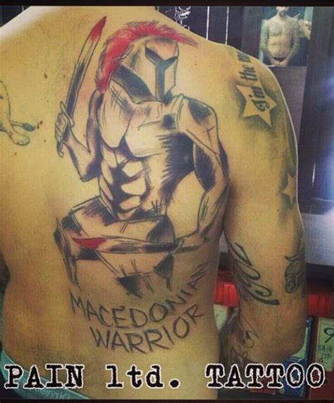 macedonian tattoo designs pero antić s macedonia warrior pero antić