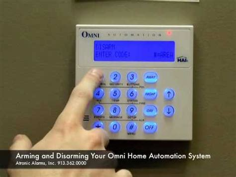 atronic alarms shows how to arm and disarm your omni home