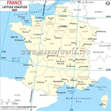 France Latitude | france lat long map mow pinterest