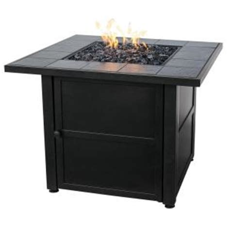 uniflame slate tile propane gas pit gad1399sp the