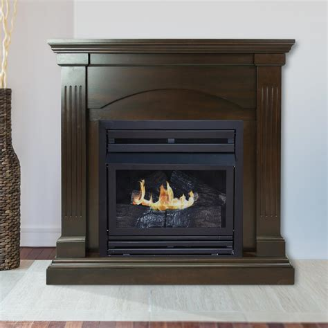 pleasant hearth 35 in convertible vent free dual fuel