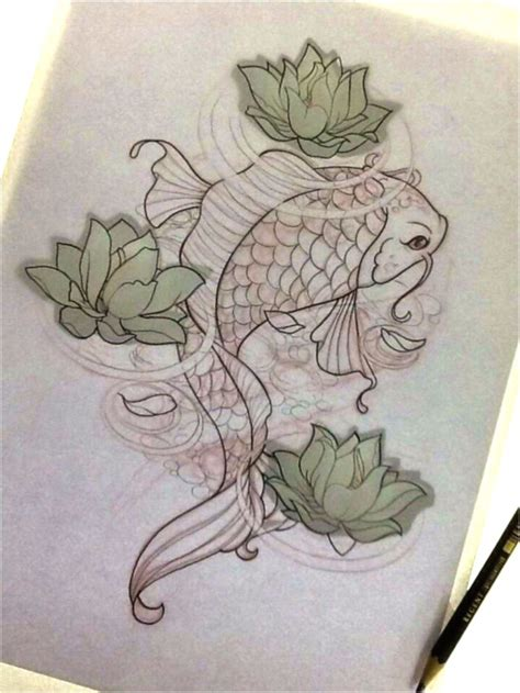 sketch design tattoo 25 best ideas about koi fish drawing on koi