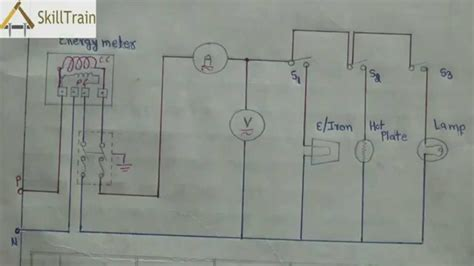 simple house wiring diagammatic representation of simple house wiring hindi ह न द youtube