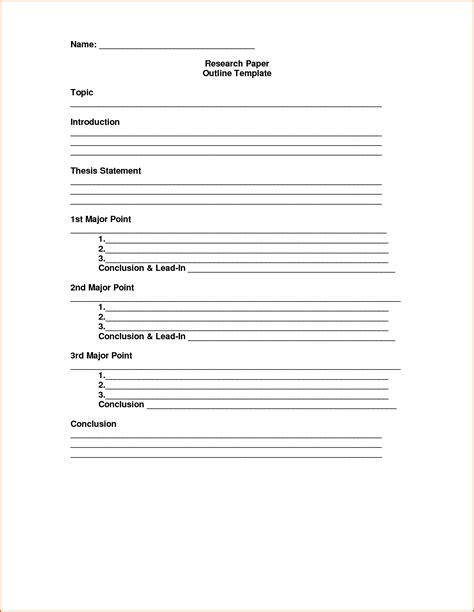 blank outline template 7 free sample example format download