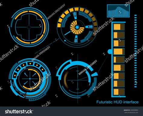 abstract interface pattern abstract creative concept vector futuristic blue stock