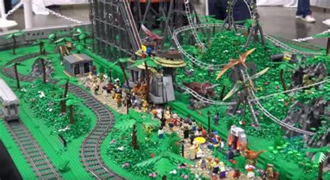 Roller Coaster Track Dinosaur custom lego roller coaster dinosaur amusement park neatorama