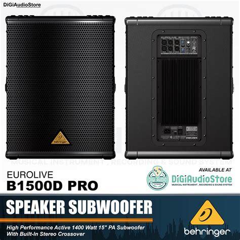 Speaker Aktif Behringer behringer eurolive b1500d pro speaker subwoofer aktif 15 inch