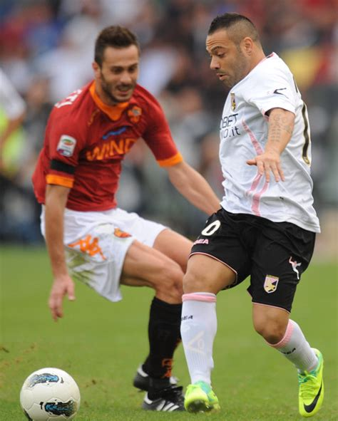 marco cassetti marco cassetti fabrizio miccoli photos as roma v us