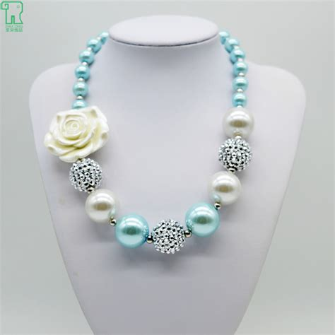 jewelry for children vintage white flower necklace 2015 new chunky