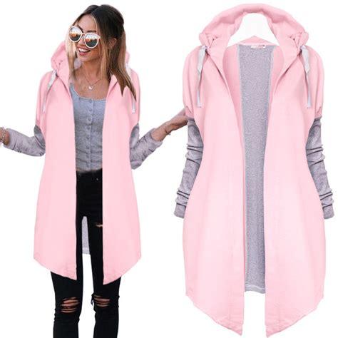 Jaket Ziper Hodie Bolak Balik Parka Pink Blue Turkis casual tunic hoodies sweatshirt coat zip up outerwear hooded jacket pink blue