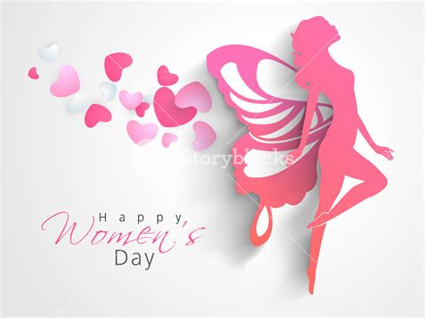 design an invitation card for women s day happy womens day greeting card or poster design with pink