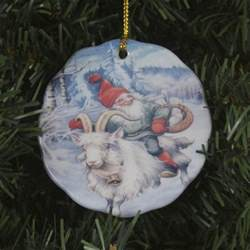 scandinavian swedish christmas ceramic ornament lars
