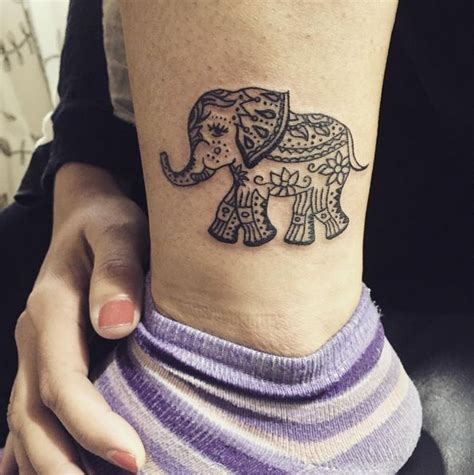 queen elephant tattoo women tattoo small elephant tattoo ink youqueen girly