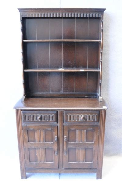 Dressers With Shelves by A Mid 20th Century Oak Dresser With Plate Shelves