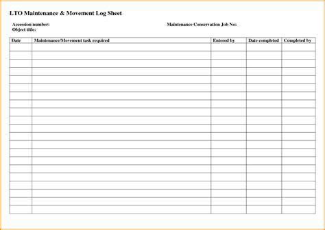 vehicle service template sheet vehicle vehicle service log