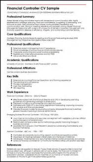 Cv In Controller Financial Controller Cv Sle Myperfectcv