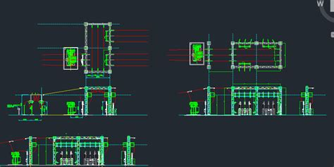 electrical substation kv dwg block  autocad