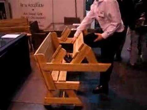 folding table garden bench  converts   picnic