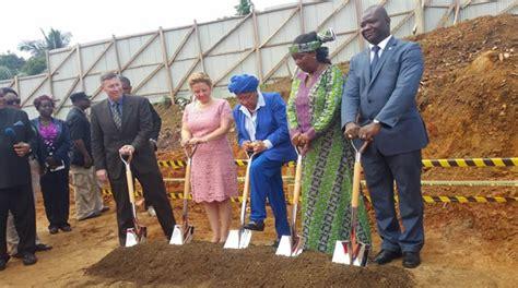 liberia holds ground breaking ceremony  public health