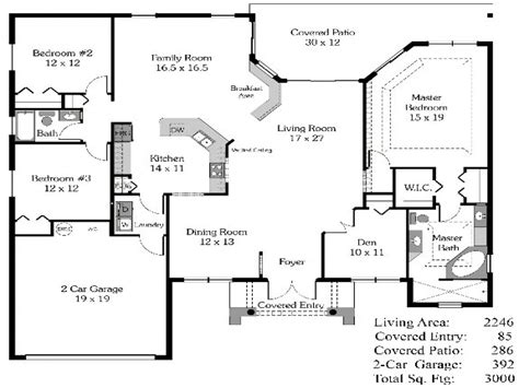 Popular Open Floor Plans | 4 bedroom house plans open floor plan 4 bedroom open house