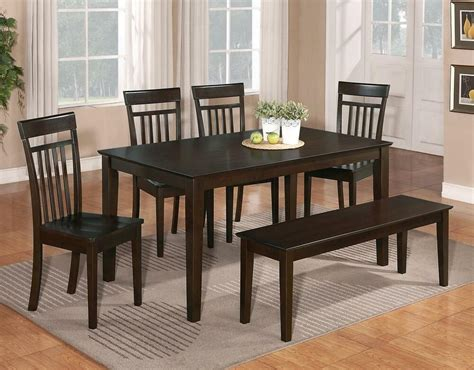 dining table and chairs set 6 pc dinette kitchen dining room set table w 4 wood chair