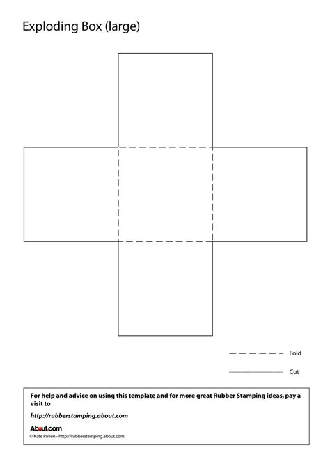 templates for large boxes make an exploding box with this free printable template