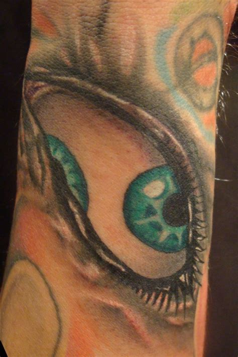 eye tattoo green green eye tattoo by fabian cobos