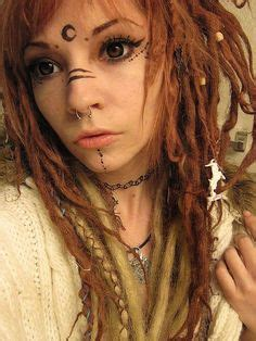 ta dreadlock extension make a mother nature costume glittery makeup and