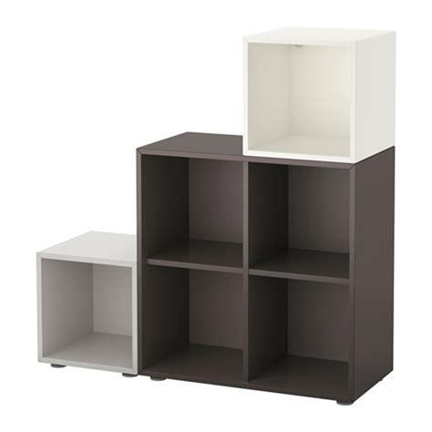 Kabinet Unik Ikea Lixhult eket kombinasi kabinet dengan kaki putih abu abu tua abu abu muda ikea