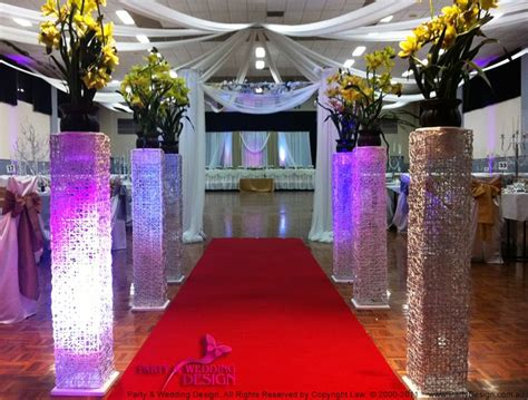 wedding aisle stands wedding decorations and